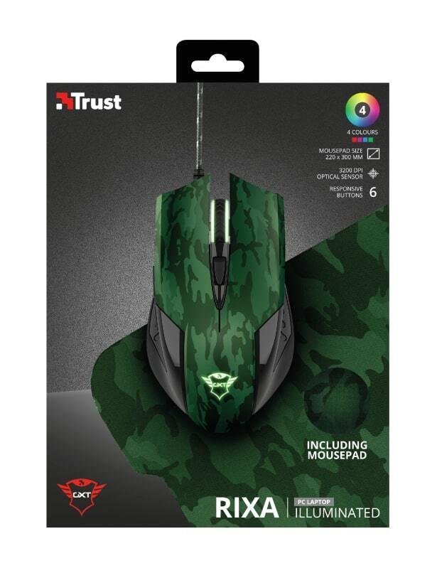 Мышь с ковриком TRUST GXT781 RIXA CAMO 2