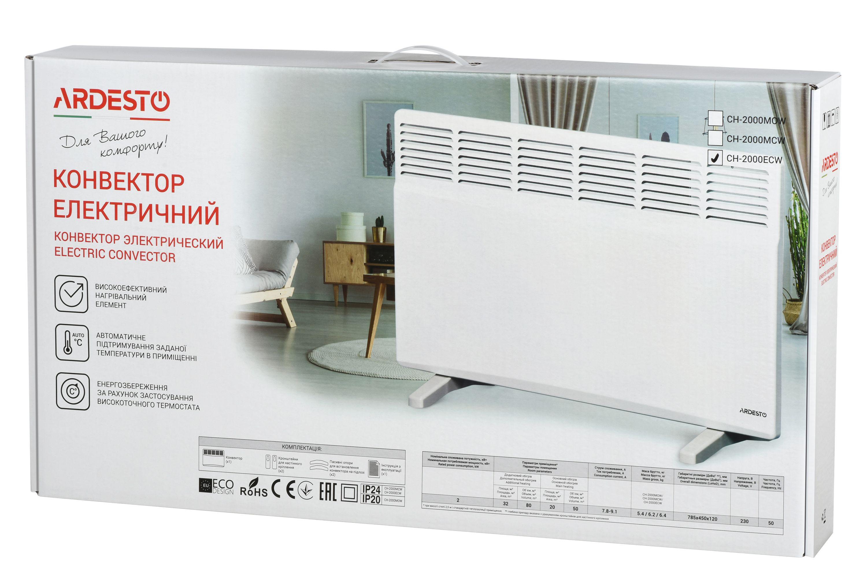 Конвекторный обогреватель Ardesto СН-2000ECW 2