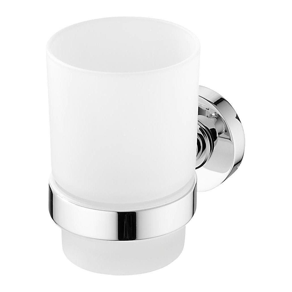 Стакан для ванны IDEALSTANDARD IOM TUMBLER CHROME & HLDR GLASS FROSTED