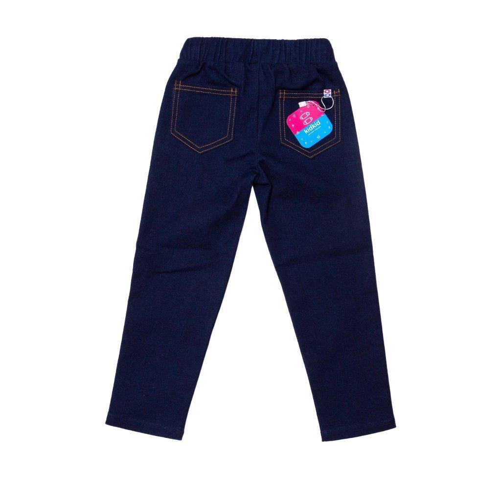 Брюки Kid kid цвет тёмно-синие с репсовой лентой Денимкид для девочки 2