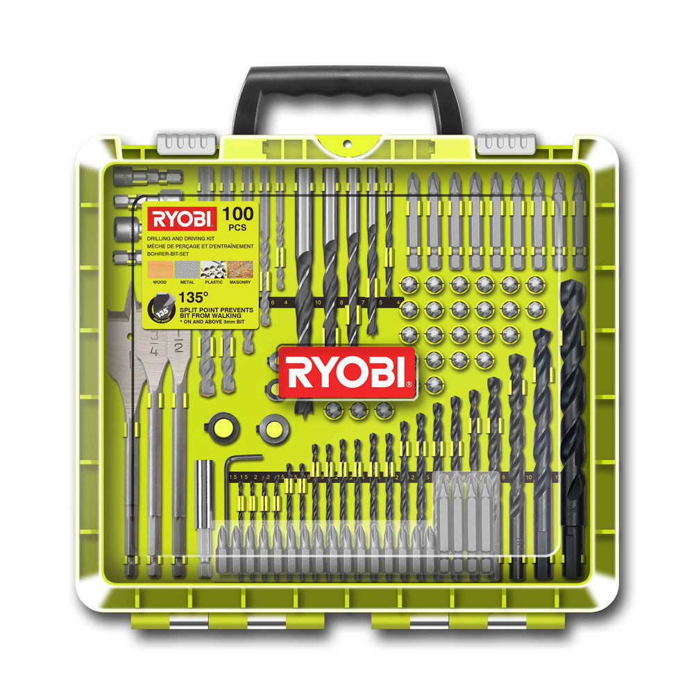 Набор сверл и бит Ryobi RAKDD100 100 предметов