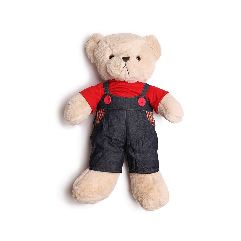 Мягкая игрушка Toysbase Медведь Plush Toy Bear in overalls with shirt (мальчик)