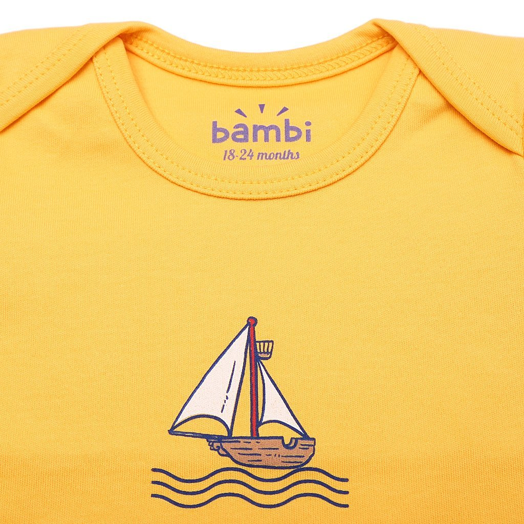 Футболка Bambi желтая для мальчика  151