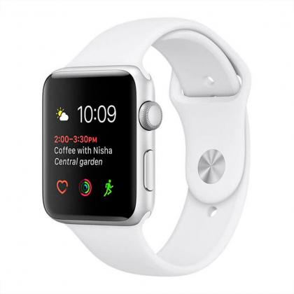 Смарт-часы APPLE A1802 Watch Series 1 38mm Silver Aluminium Case with White Sport Band