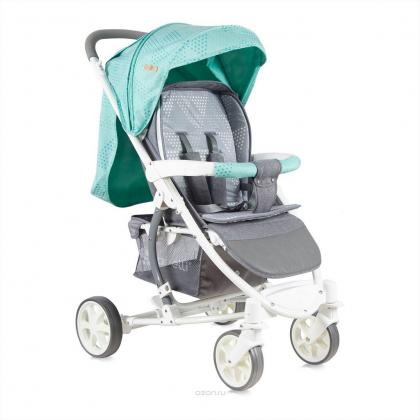 Коляска LORELLI BABY STROLLER S-300+FOOTCOVER GREEN&GREY CITIES