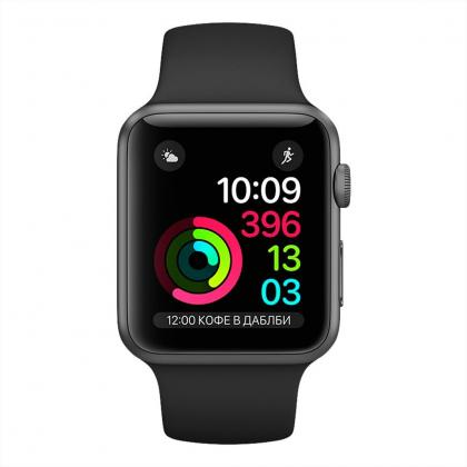 Смарт-часы APPLE A1802 Watch Series 1 38mm Space Grey Aluminium Case with Black Sport Band